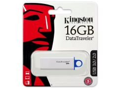 Флешка USB Kingston Data Traveler G4 16 ГБ (DTIG4/16GB) Blue
