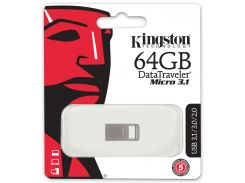 Флешка USB Kingston DT Micro USB 3.1 64 ГБ (DTMC3/64GB)