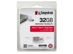 Флешка USB Kingston DT MicroDuo 3C 32 ГБ (DTDUO3C/32GB)