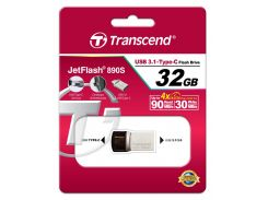 Флешка USB Transcend JetFlash 890 32 ГБ (TS32GJF890S) Gray