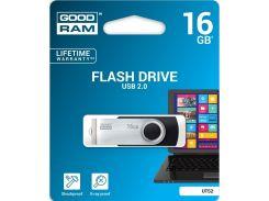 Флешка USB GOODRAM Twister 16 ГБ (UTS2-0160K0R11) Black/Silver
