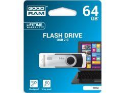 Флешка USB GoodRam Twister 64 ГБ (UTS2-0640K0R11) Black/Silver