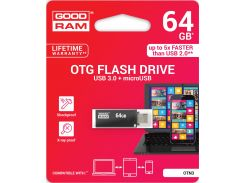 Флешка USB GoodRam Twin 64 ГБ (OTN3-0640K0R11) Black