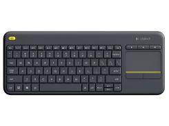 Клавіатура Logitech K400 Plus Wireless Touch Black