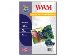 Фотопапір А3 WWM 20 аркушів (M180.A3.20)