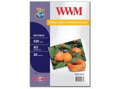Фотопапір A3 WWM 20 аркушів (M230.A3.20)