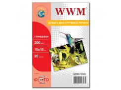 Фотопапір 10х15 WWM 20 аркушів (G200.F20)