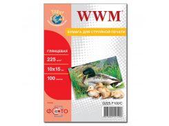 Фотопапір 10х15 WWM 100 аркушів (G225.F100)