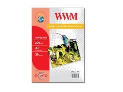 Фотопапір А3 WWM 20 аркушів (G200.A3.20/C)