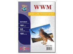 Фотопапір А4 WWM 100 аркушів (M100.100)