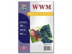 Фотопапір 10х15 WWM 100 аркушів (M180.F100)