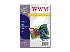 Фотопапір 10х15 WWM 20 аркушів (M180.F20)