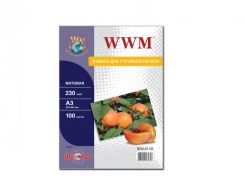 Фотопапір А3 WWM 100 аркушів (M230.A3.100)
