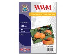 Фотопапір A4 WWM 50 аркушів  (M230.50)