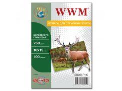 Фотопапір 10х15 WWM 100 аркушів (SG260.F100)
