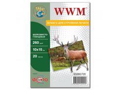 Фотопапір 10х15 WWM 20 аркушів (SG260.F20)