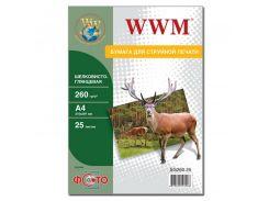 Фотопапір A4 WWM 25 аркушів (SG260.A4.25)