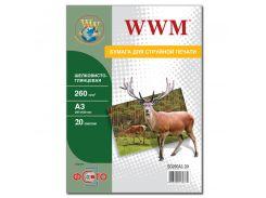 Фотопапір А3 WWM 20 аркушів (SG260.A3.20)