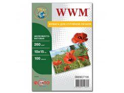 Фотопапір 10х15 WWM 100 аркушів (SМ260.F100)