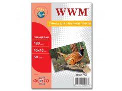 Фотопапір 10х15 WWM 50 аркушів (G180.F50)