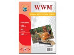 Фотопапір A4 WWM 100 аркушів (G180.100)