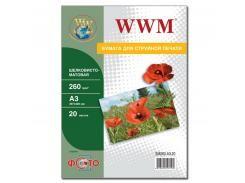Фотопапір А3 WWM 20 аркушів (SM260.A3.20)