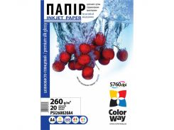 "Фотопапір А4 ColorWay ""Шовк""  20 аркушів (PSI260020A4)"