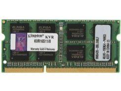 Пам'ять для ноутбука Kingston DDR3 1х8 ГБ (KVR16S11/8)