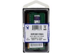 Пам'ять для ноутбука Kingston DDR3 1х4 ГБ (KVR16S11S8/4)