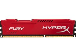 Пам'ять Kingston HyperX Fury Red DDR3 1x4 ГБ (HX316C10FR/4)