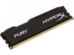 Пам'ять Kingston HyperX Fury Black DDR3 1x4 ГБ (HX318C10FB/4)
