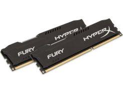 Пам'ять Kingston HyperX Fury Black DDR3 2x4 ГБ (HX316C10FBK2/8)