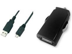 Автомобільний зарядний пристрій Global MSH-SC-031 2.1A + Micro USB Black