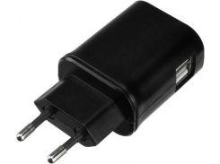 Мережевий зарядний пристрій Kit Mains Charger 2xUSB 3,1A Black