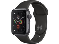 Смарт годинник Apple Watch Series 5 GPS 40mm Space Grey Aluminium with Black Sport Band  (MWV82)