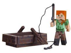 Ігрова фігурка Minecraft Alex with Boat серія 3 (16491M)