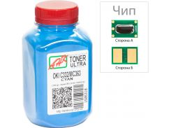 Тонер + чіп АНК for OKI C332/MC363 Cyan бутль 100g