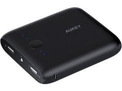 Батарея універсальна AUKEY PB-N42 Power Bank 10000mAh 2xUSB Black  (LLTS104369)