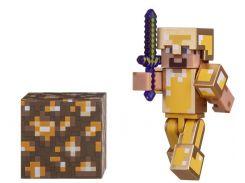 Ігрова фігурка Minecraft Steve in Gold Armor, серія 3, 7cm (16488M)