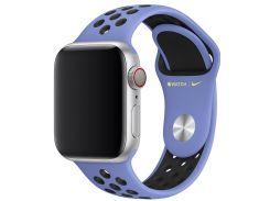 Ремінець Apple Nike Sport Band for Apple Watch 40mm Royal Pulse/Black - S/M M/L  (MWU62)