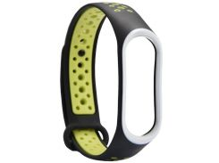 Ремінець Climber for Xiaomi Mi Band 4 - Double Color Sport TPU Black/Green