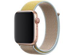 Ремінець HiC for Apple Watch 44mm - Sport Loop Cream/Yellow