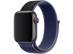 Ремінець HiC for Apple Watch 40mm - Sport Loop Midnight Blue/Black