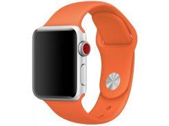Ремінець HiC Silicone Case for Apple Watch 38/40mm Orange  (EW - 2)