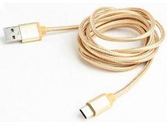 Кабель Cablexpert AM/Type-C CCB-mUSB2B-AMCM-6-G Gold