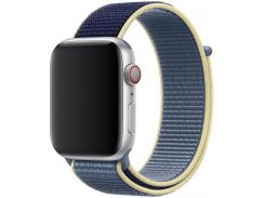 Ремінець HiC for Apple Watch 44mm - Sport Loop Midnight Blue/Blue