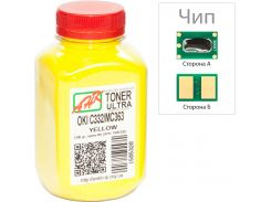 Тонер + чіп АНК for OKI C332/MC363 Yellow бутль 100g