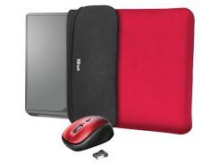 Чохол для ноутбука Trust YVO Reversible Red + Мишка