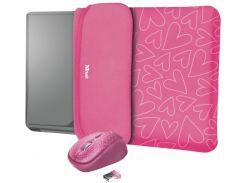 Чохол для ноутбука Trust YVO Pink + Мишка