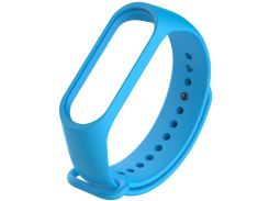 Ремінець Climber for Xiaomi Mi Band 4 - Original Style Silicone Single Color  Light Blue  (CBXM407 Light Blue)